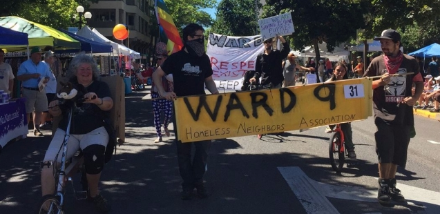 Ward 9 marching in the July 2017 Eugene Parade